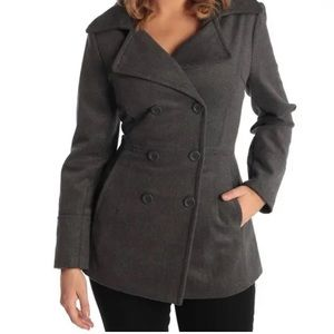 Alpine Swiss Emma Peacoat Wool Double-Breasted NWT